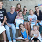 Young swimmers getting autographs from their heroes. (Picture taken by Elliot Karlan)