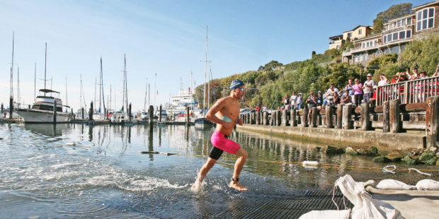 Jordan Wilimovsky winning the 15th Annual RCP Tiburon Mile (Picture taken by Elliot Karlan)